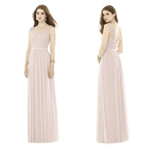 Alfred Sung D718 Blush Bridesmaid Chiffon Dress